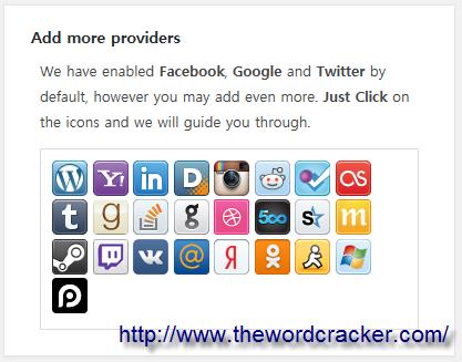 WordPress Social Login - Add more providers2