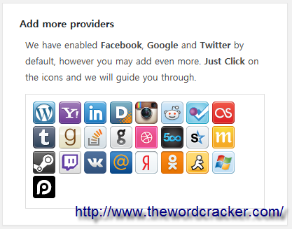WordPress Social Login - Add more providers2