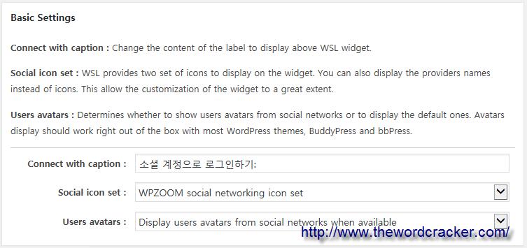 WordPress Social Login Plugin - Basic Settings