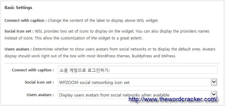 WordPress Social Login Plugin - Basic Settings