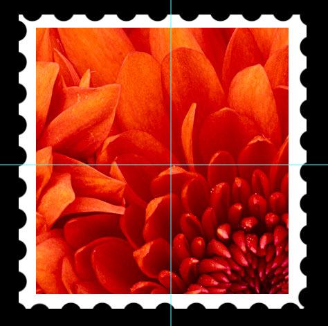 Photoshop을 사용하여 우표 만들기