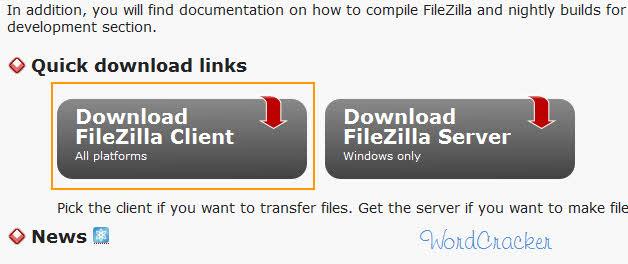 ファイルBugzillaのクライアントのダウンロード