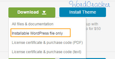 Download Installable WordPress file only