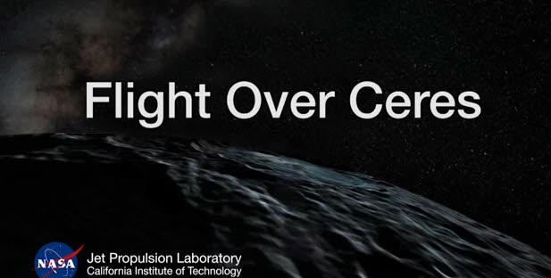 NASA가 공개한 왜소행성 세레스의 지표면을 영상화한 애니메이션