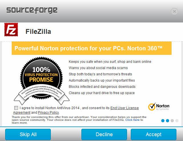 Norton install  - ファイルBugzillaのインストール