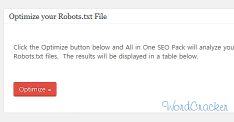 Optimize your Robots file