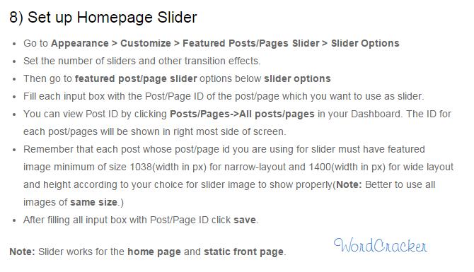 Set up HomePage Slider in Attitude Theme in WordPress