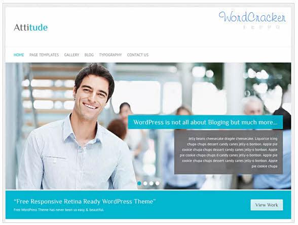 WordPress Attitude Theme  -  WordPress Attitudeテーマ