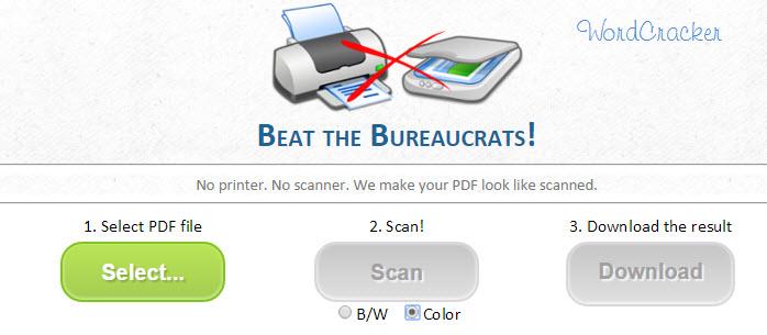 PDF 문서를 스캔한 문서처럼 변환하기
