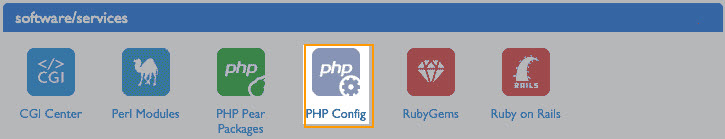 PHP config in Bluehost