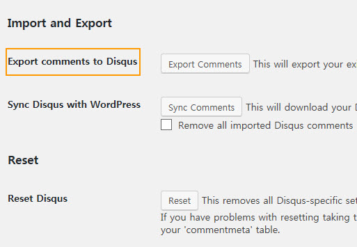Export comments to Disqus