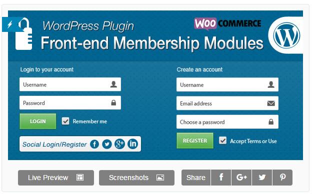 Front-end Membership Modules - 워드프레스용 프런트엔드 회원 가입 모듈