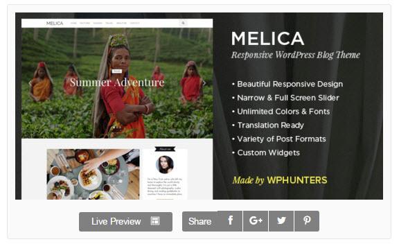 Melica WordPress Theme  -  [WordPress]今月の無料テーマ/プラグイン -  2016年3月