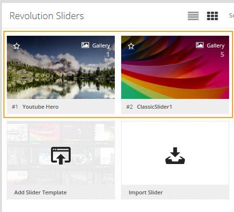 Revolution Slider Templtes - 레볼루션 슬라이더 템플릿 다운로드