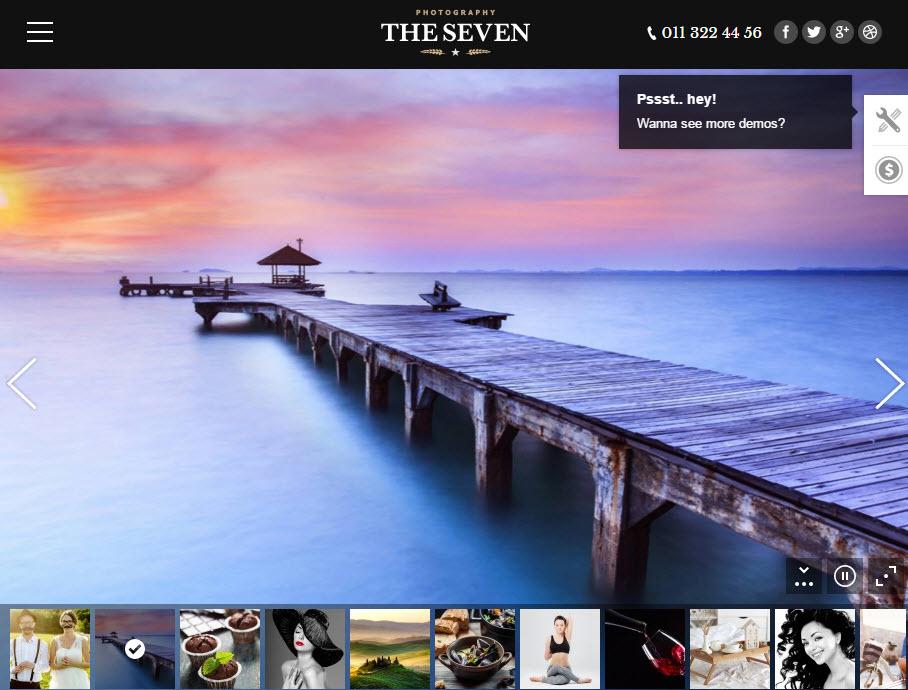 The 7 Photo Demo  -  WordPress ワードプレスのテーマ