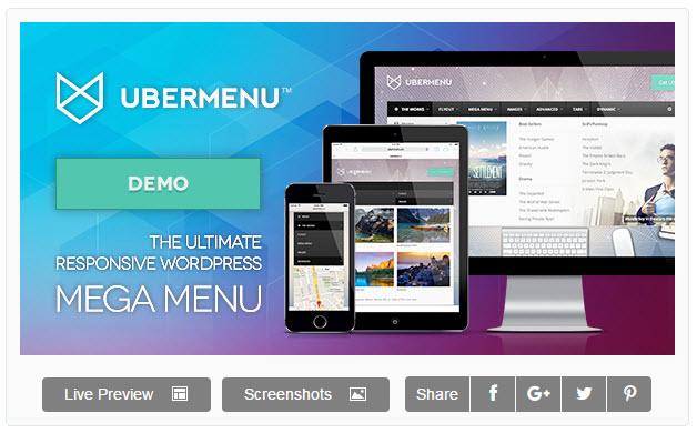 UberMenu - 워드프레스 메가 메뉴 플러그인