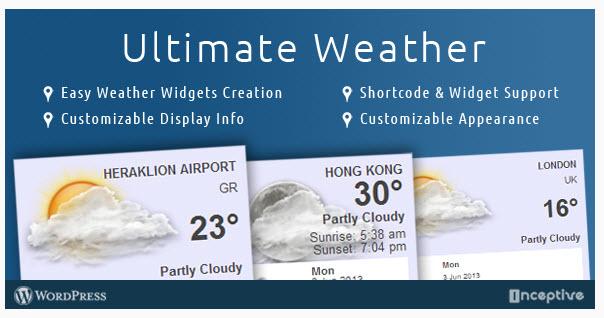 [워드프레스] 프리미엄 날씨 위젯 – Ultimate Weather