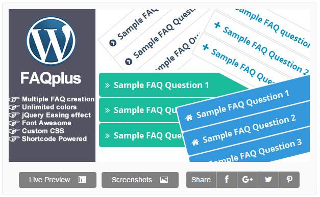 FAQPlus – 워드프레스 프리미엄 FAQ 플러그인