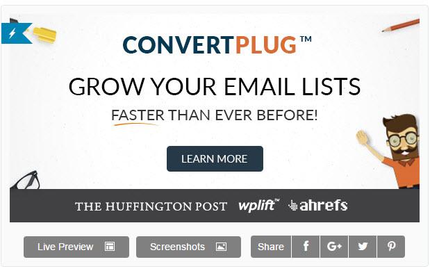 ConvertPlug – 워드프레스 팝업 플러그인