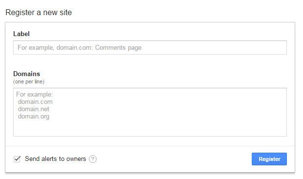 Google reCAPTCHA site registration