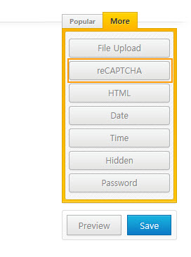 Quform reCAPTCHA field