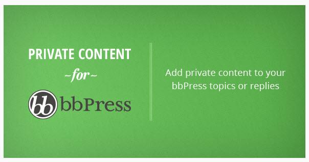 bbPress Private Content WordPress Plugin