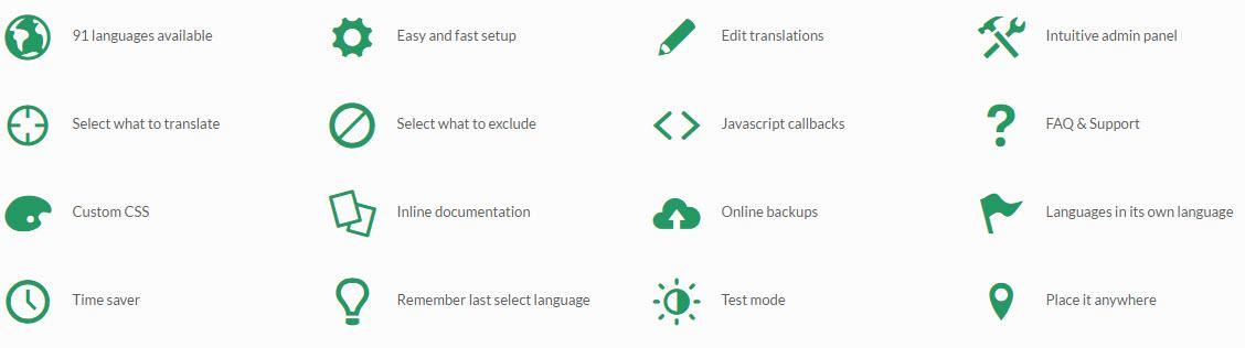 Ajaxの翻訳革命 WordPress Plugin Feature List