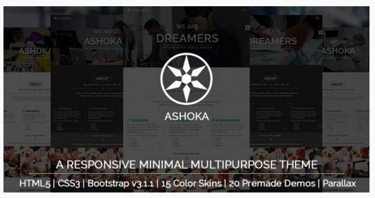 [이 달의 무료 다운로드] Ashoka – 반응형 미니멀 다용도 HTML 테마