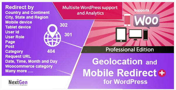 Country and Mobile Redirect for WordPress -  Professional Edition