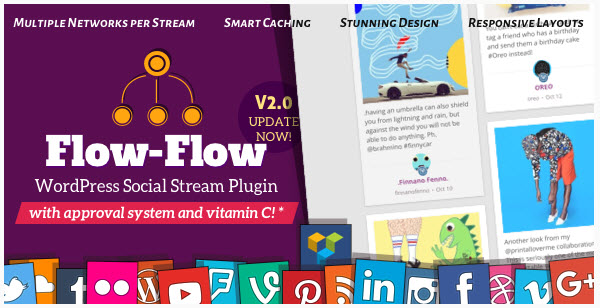 워드프레스 소셜 스트림 플러그인 – Flow-Flow