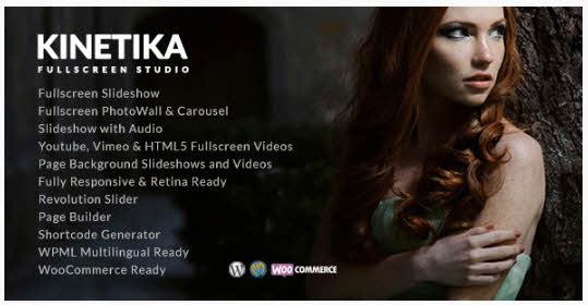 Kinetika - Fullscreen Photography Theme