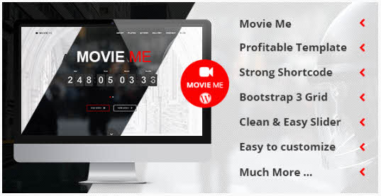 Movie Me  -  One Page Responsive WordPress テーマ