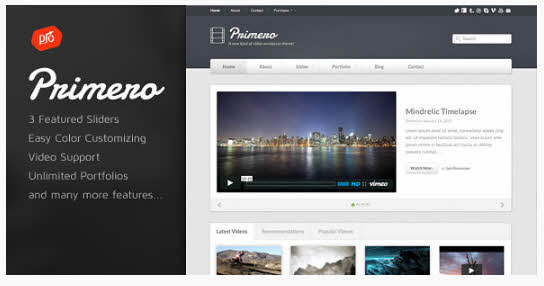 Primero - Video WordPress Theme