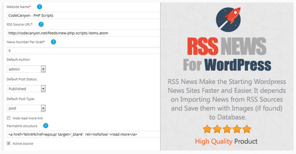 RSS News for WordPress