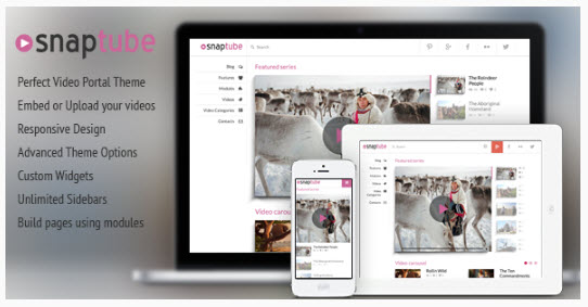 Snaptube - Premium Video WordPress Theme