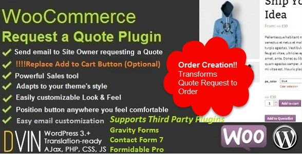WooCommerce Request a Quote 우커머스 견적 요청서 플러그인