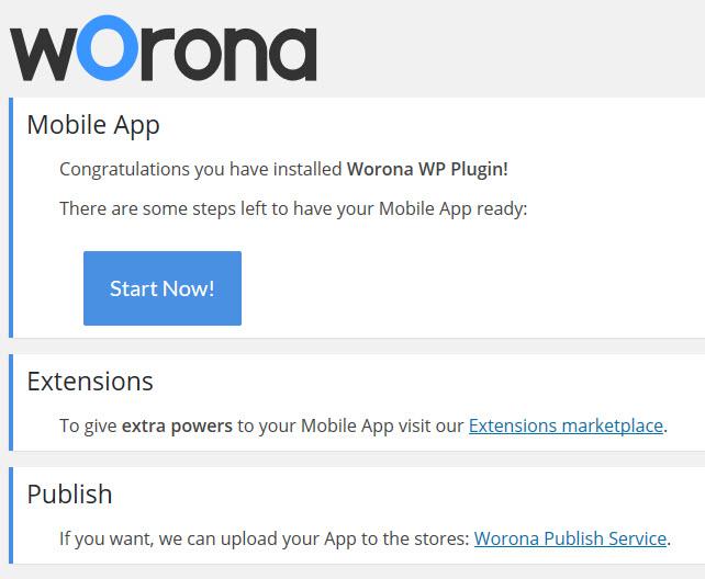 Worona - Option Page