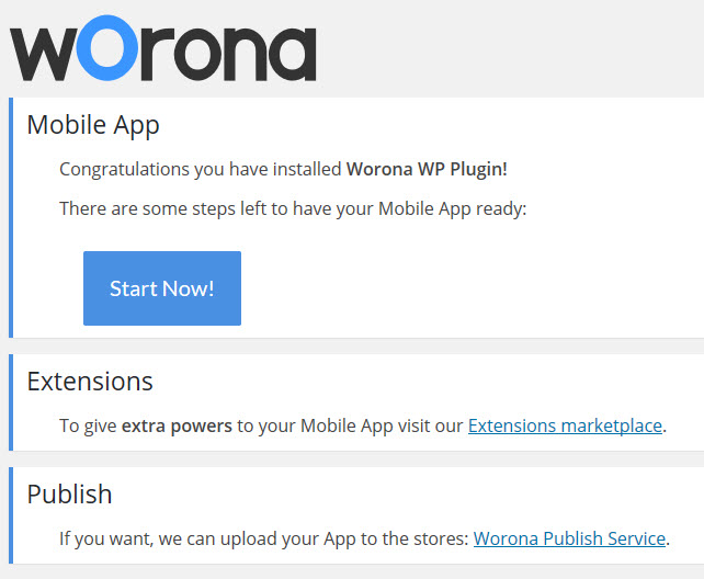 Worona - Option Page