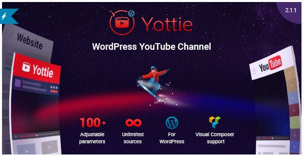 YouTube Channel WordPress Plugin - Yottie