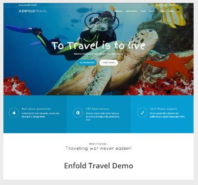 Enfold 테마의 여행(Travel) 데모