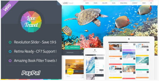 Love Travel - Creative Travel Agency WordPress
