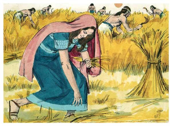 보아스의 밭에서 이삭을 줍는 룻 | 그림: Sweet_Media (Wikimedia commons)