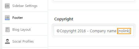 Enfold에서 저작권 표시 제거하기