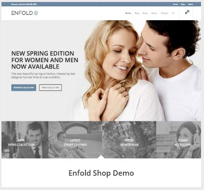 Enfold 테마의 Shop(상점/쇼핑) 데모