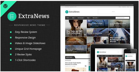 [워드프레스] 뉴스 매거진 테마 – ExtraNews