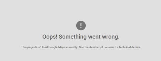 Google-Map-error