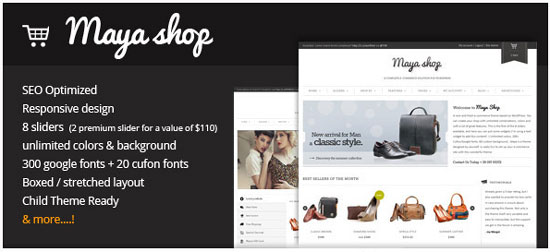 MayaShop  -  WordPress WooCommerce テーマ