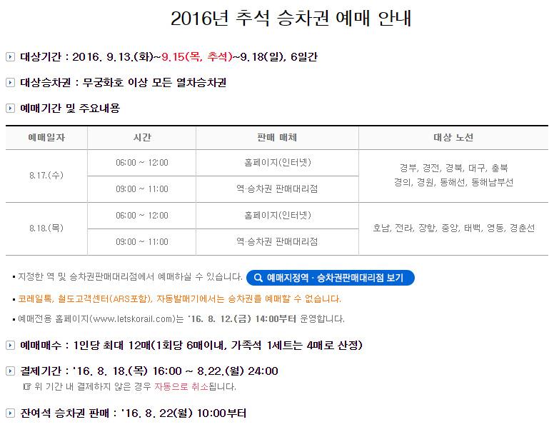 Chuseok-Ticketing