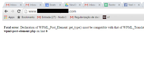 [워드프레스] 'Fatal error: Declaration of WPML_Post_Element::get_type()…' 오류가 발생하는 경우