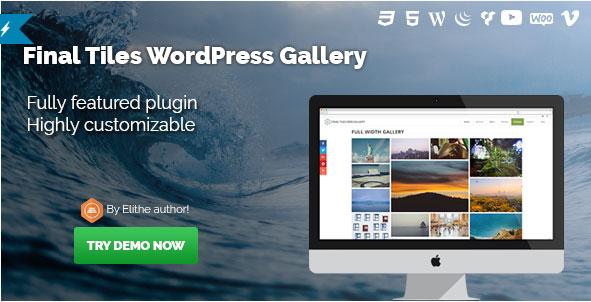 [워드프레스] 베스트 셀링 갤러리 플러그인 - Final Tiles WordPress Gallery 4